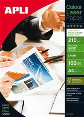 """Fotografický papír """"Premium Laser"""", do laserové tiskárny, lesklý, A4, 210g, oboustranný, APLI, bal."""