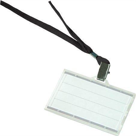 Visačka s černým závěsem na krk, 88x50, DONAU, box 50 ks, 8347001PL-01
