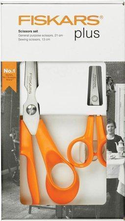 """Nůžky, FISKARS """"Classic"""", oranžové, blistr 2 ks"""