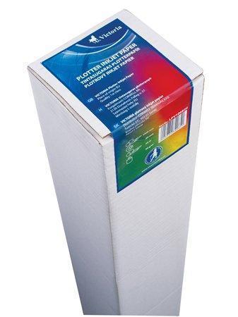 Plotterový papír, do inkoustové tiskárny, 297mm x 50m, 76mm dutina, 90g, VICTORIA,