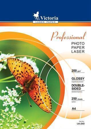 """Fotografický papír """"Professional"""", do laserové tiskárny, lesklý, A4, 200g, oboustranný, VICTORIA, ba"""