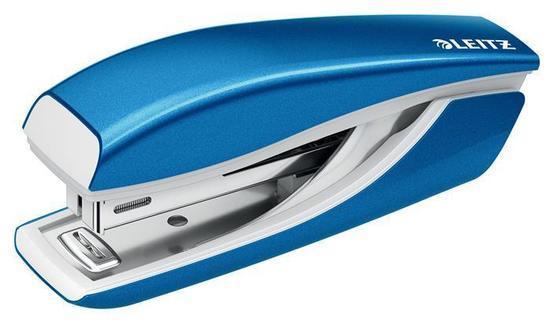 Mini sešívačka Leitz NeXXt WOW 5528, Metalická modrá, 55281036