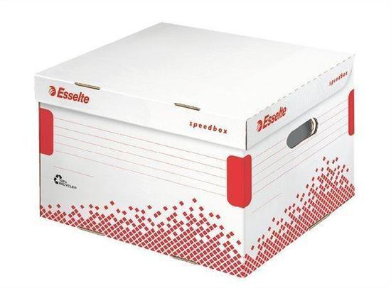 Esselte Speedbox archivační krabice s víkem velikosti L bílá