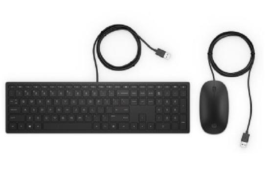 HP Pavilion Wired Keyboard and Mouse 400 4CE97AA#AKR, 4CE97AA#AKR