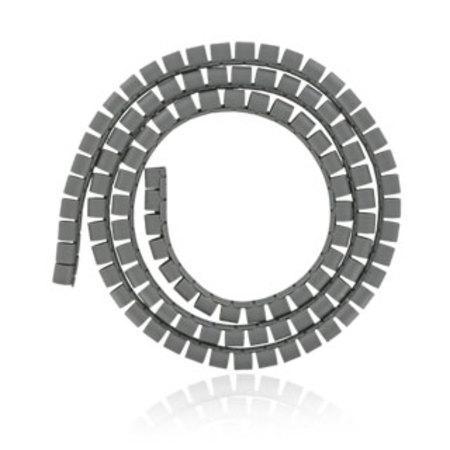 4World Organizér kabelů SMART SNAKE - průměr 16mm, délka 1.5m, šedý