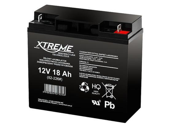 XTREME Nabíjecí gelová baterie 12V 18Ah, 82-226#