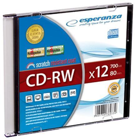 Esperanza CD-RW [ slim jewel case | 700MB | 12x ] - 1 kus, 2071 - 5905784760339 - 200