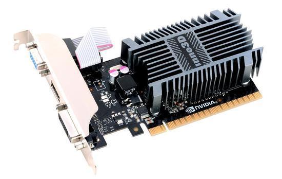 Inno3D GeForce GT 710, 2GB SDDR3 (64 Bit), HDMI, DVI, D-Sub, N710-1SDV-E3BX