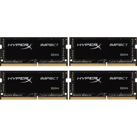 Kingston HyperX Impact Black SODIMM DDR4 16GB (4x4GB) 2133MHz CL14 HX421S14IBK4/16