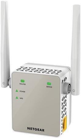 Netgear AC1200 WiFi Range Extender - 802.11ac, 1PT, Wall-plug Ext. Ant (EX6120), EX6120-100PES