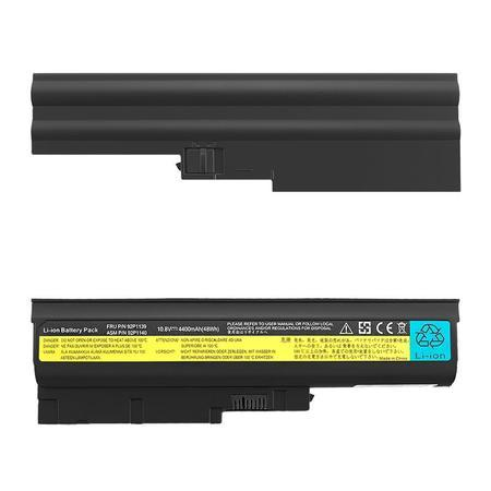 Qoltec Long Life baterie pro notebooky Lenovo R500 R60 | 10.8-11.1V | 4400mAh, 52505