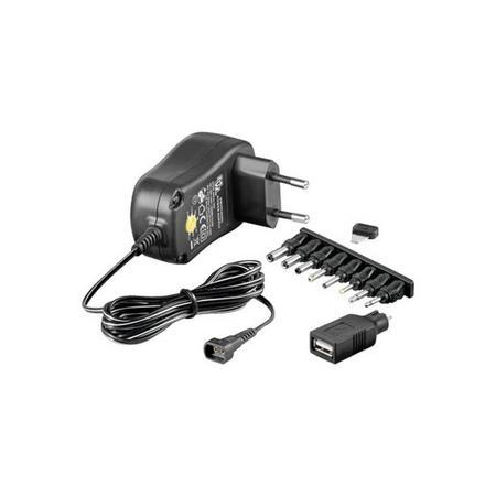 Techly adaptér 3-12V 1A 12W, 301931 - neoriginální, 301931