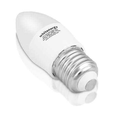 Whitenergy LED žárovka   7xSMD2835  C37   E27   3W   230V  teplá bílá  mléko