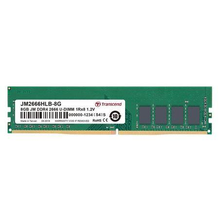 DIMM DDR4 8GB 2666MHz TRANSCEND 1Rx8 1Gx8 CL19 1.2V, JM2666HLB-8G