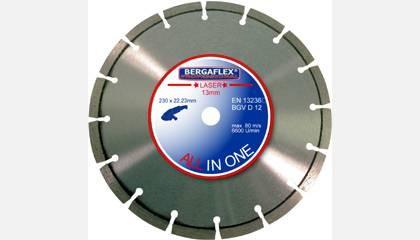Kotouč diamantový BERGAFLEX ALL in 1 Laser 230x10x22,2 mm