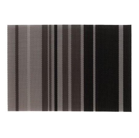 Prostírání NETA, PVC, šedé proužky 45x30cm