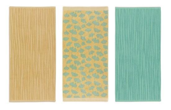 Ručník LINDANO 50x100 cm, sada 3 ks žlutá, mentolová, zelená