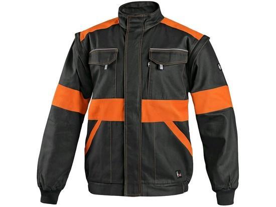Blůza CXS LUXY EDA, pánská, černo-oranžová, vel. 66