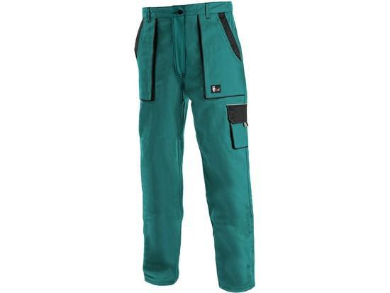Kalhoty do pasu CXS LUXY ELENA, dámské, zeleno-černé, vel. 38