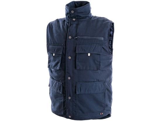 Pánská zimní vesta DENVER, modrá, vel. 3XL