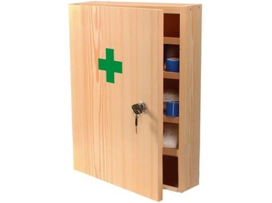 Steriwund lékárnička nást. dřev. přírodní do 15 osob