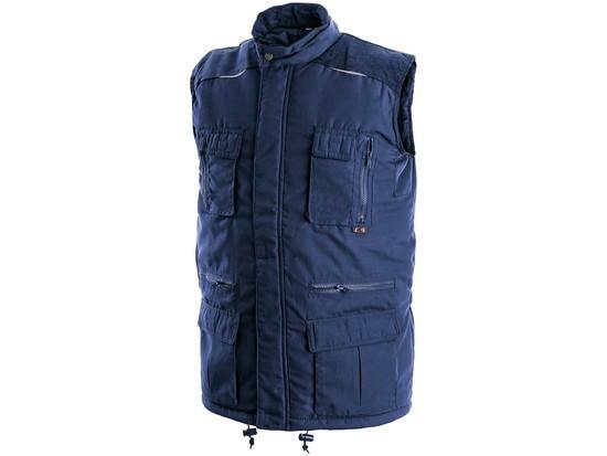 Pánská zimní vesta OHIO, modrá, vel. 3XL