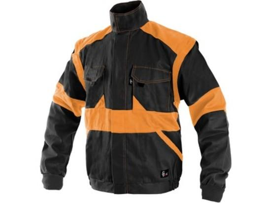 Blůza CXS LUXY EDA, pánská, černo-oranžová, vel. 64