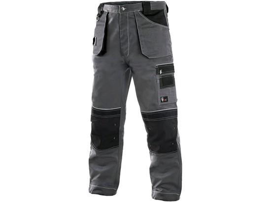 Kalhoty do pasu CXS ORION TEODOR, prodloužené, pánské, šedo-černé, vel. 60-62