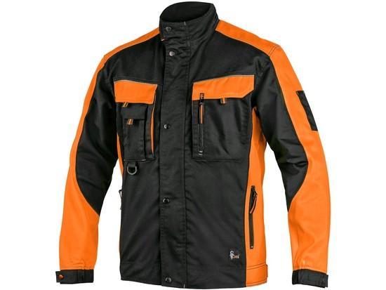 Blůza CXS SIRIUS BRIGHTON, černo-oranžová, vel.46