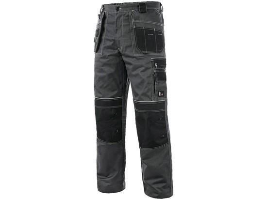 Kalhoty do pasu CXS ORION TEODOR PLUS, pánské, šedo-černé, vel. 60