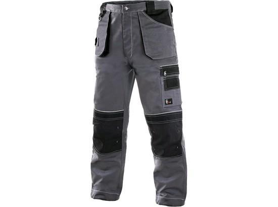 Kalhoty do pasu CXS ORION TEODOR, 170-176cm, pánské, šedo-černé, vel. 60