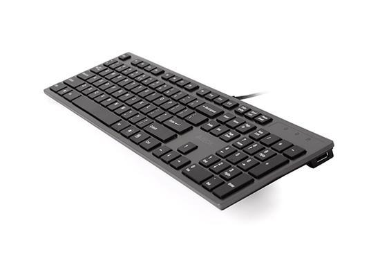 A4tech KV-300H, tenká klávesnice s USB HUBem, CZ/US, USB