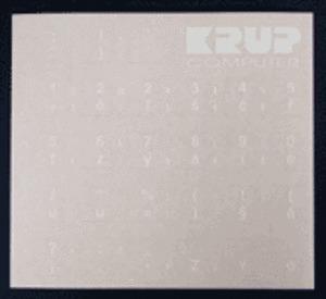 Přelepky na klávesnice - bílé - české klávesy (pro černou klávesnici), pkczb