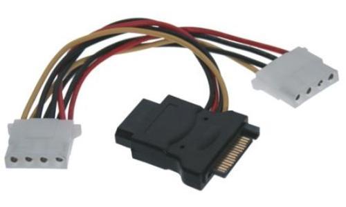 CABLE Kabel napájecí k HDD SATA na 3x 5,25