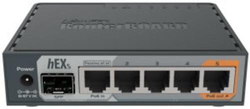 MikroTik RouterBOARD RB760iGS, hEX S, 5xGLAN, SFP, USB, L4, PSU, RB760iGS