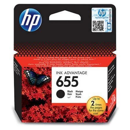 HP CZ109AE náplň č.655 černá cca550 stran (black pro DJ Advantage 3525, 4615, 4625, 5525, 6525), CZ109AE