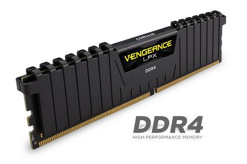 CORSAIR 8GB=2x4GB DDR4 2133MHz VENGEANCE LPX BLACK PC4-17000 CL13-15-15-28 1.2V XMP2.0 (8GB=kit 2ks 4GB s chladičem