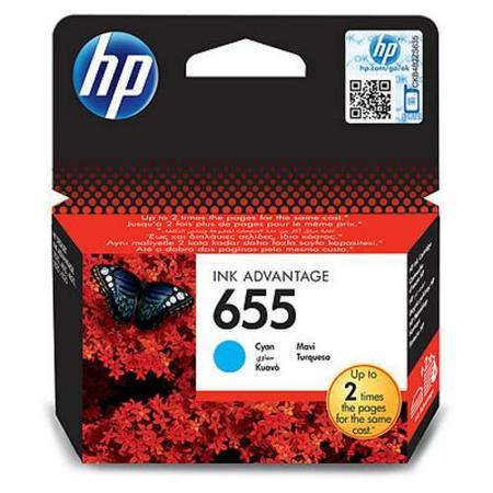 """Inkjet cart.pro """"Deskjet Ink Advantage 3520 series"""" tiskárny, HP """"Nr.655"""" Cyan, 600 stran, CZ110E"""
