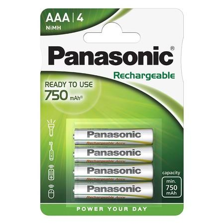 Baterie nabíjecí Panasonic Evolta AAA, 750 mAh, Ni-MH, blistr 4ks