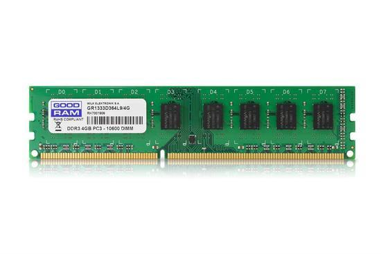 GOODRAM DDR3 4GB 1333MHz CL9 GR1333D364L9/4G