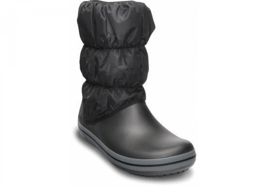 Crocs Winter Puff Boot Women 37-38 (M5/W7) / Black/ Charcoal