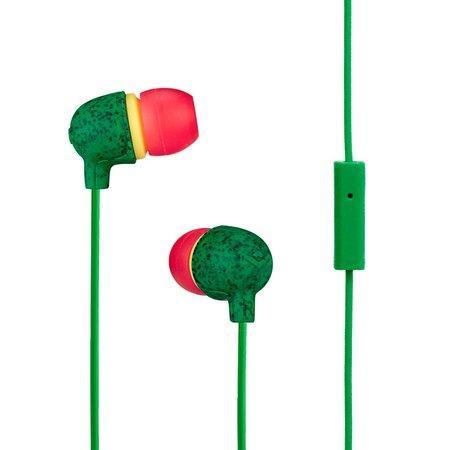 MARLEY Little Bird - Rasta, sluchátka do uší s ovladačem a mikrofonem
