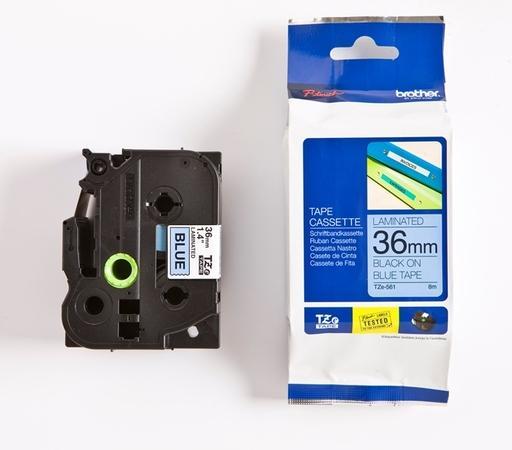 Brother - TZ-561 modrá / černá (36 mm), TZE561