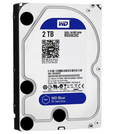 "WD HDD BLUE 2TB / WD20EZRZ / SATA 6Gb/s / Interní 3,5""/ 5400rpm/ 64MB, WD20EZRZ"