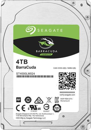 "Seagate BarraCuda 4TB HDD / ST4000LM024/ Interní / 2,5"" / 5400 rpm / SATA 6Gb/s / 128MB"