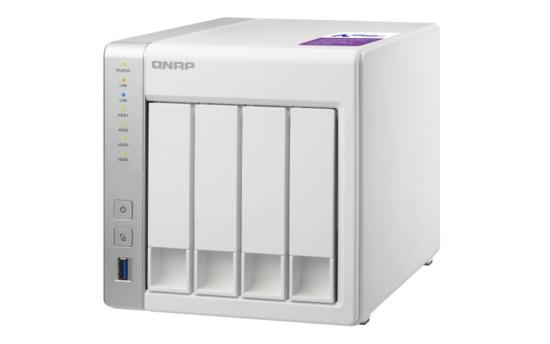 QNAP TS-431P Turbo NAS Server, 1,7 GHz DC/1GB DDR3/4x HDD/2xGL/USB 3.0/R0,1,5,6/iSCSI