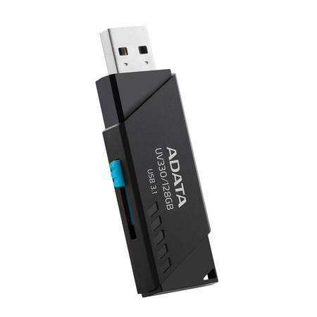 Flashdisk Adata UV330 128GB USB 3.1 black, AUV330-128G-RBK