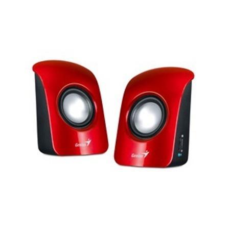 Genius repro SP-U115, přenosné repro, USB napájení, červené, 31731006101