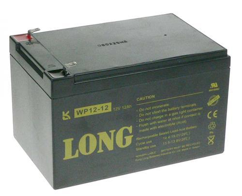 Baterie Avacom Long 12V 12Ah olověný akumulátor F2, PBLO-12V012-F2A