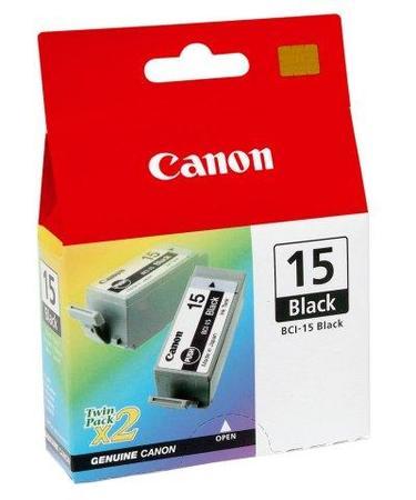 Inkoust Canon Ink BCI-15BK černý, dvojbalení, 8190A002